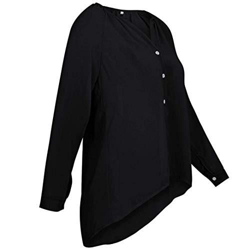 Tops Schwarz En Marca Elegante Cuello Top Camiseta Invierno o Mujer Larga Chaqueta Manga Oto V De Deportiva Con Mode Casual Sudadera Capucha Extragrandes Suéter PF8nqxOP