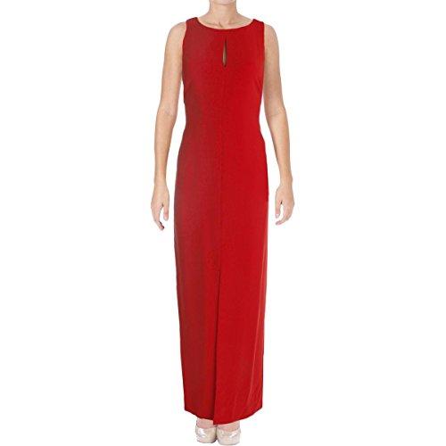 Klein Robe Calvin Womens Formelle De Fente De Polyester Rouge
