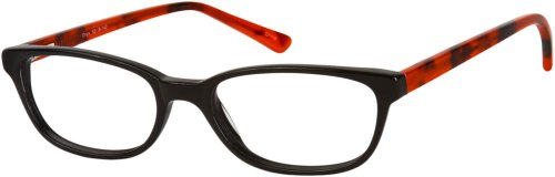 Readers.com Multi-View Computer Reader - Style #71 +3.75 Onyx Black/Red Reading Glasses