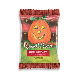 Russell Stover Dark Chocolate Red Velvet Pumpkin, 1 oz. Bar (Red And White Halloween Cake)