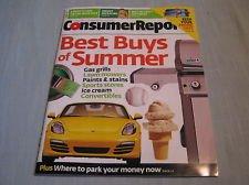 Consumer Report Magazine June 2013, Best Buys of Summer