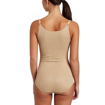 Flexees Maidenform Wear Your Own Bra Torsette Body Briefer 2656, S, Body Beige