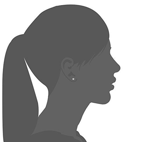 1a3d085a9aa46 Besteel 20 Pairs Stainless Steel Black Stud Earrings for Men Women ...