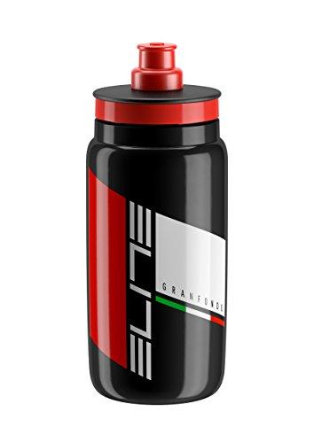 Elite Fly Granfondo Water Bottle, 550ml, Black Fly Water Bottle