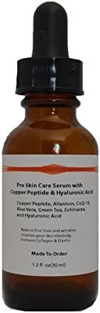 Copper Peptide (GHK-Cu) Pro Skin Care Serum with Hyaluronic Acid (1.2oz)