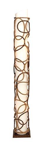Benzara Woodland Imports Metal Abaca Floor Lamp Make The Env