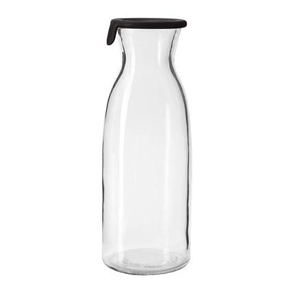 Ikea Vardagen - Jarra con tapa, 1L, vidrio transparente