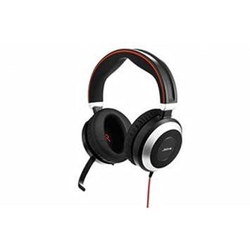 Jabra Evolve 80 Stereo Binaurale Diadema Negro, Plata Auricular con micrófono - Auriculares con micrófono