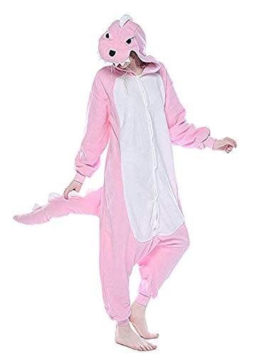(Women's Sleepwear Unisex Adult Kids Dinosaur Onesie Animal One Piece Pajamas Christmas Costume (Size S for 59-62
