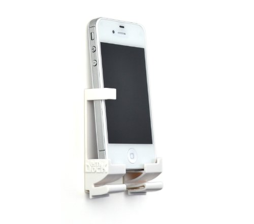 Price comparison product image Dockem Wall Mount and Dock for iPhone, iPad, Android and Windows Tablet or Smartphone - White