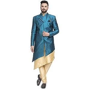Benstoke mens Dupion silk kurta pajama & Ethnic Sherwani