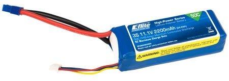 E-flite 2200mAh 3S 11.1V 50C LiPo 13AWG: EC3, EFLB22003S50