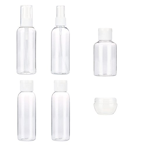 Price comparison product image TRENDINAO Travel Bottles for Makeup Cosmetic Toiletries Liquid Containers Leak Proof Portable Travel Accessories - Clear (6PCS(A),  Clear)