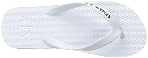A | X Armani Uitwisseling Heren Armani Uitwisseling Solide Flip-flop Bianco / Nero