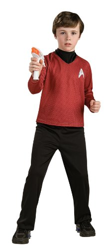 Star Trek Red Shirt Kids Costumes (Lets Party By Rubies Costumes Star Trek Movie Deluxe (Red) Shirt Child Costume / Red - Size Medium)