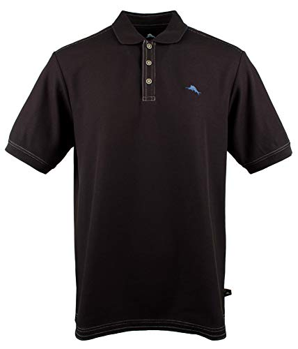 Tommy Bahama Men's The Emfielder Polo Shirt, Black, MD (Tommy Bahama Polo)