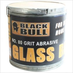 Abrasive Glass Beads, 80 Grit, 50 lb Container, for Sand Blasters Tools Equipment Hand (Abrasive Glass Beads)