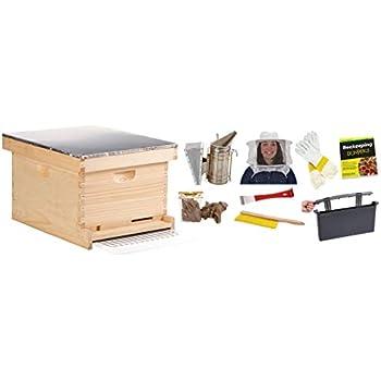 30 Frames Beekeeping Bee Hive Kits Honey Frame Beehive 20 Deep 10 Medium Frames