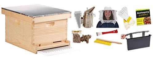 Little Giant Farm & Ag HIVE10KIT 10-Frame Beginner Hive Kit, Medium, Natural