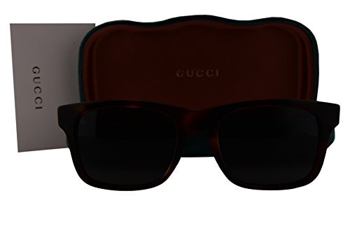 Gucci GG0008S Sunglasses Brown Havana w/Gray Lens 006 GG - Gucci Sunglasses Amazon