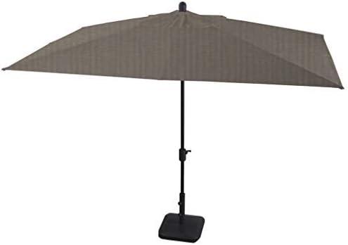Secret Garden Home Goods La Jolla – 6.7ft x 10ft Rect. Market Umbrella w Elastic Upper Pole, Sunbrella Fabric Sunbrella- Grpahite