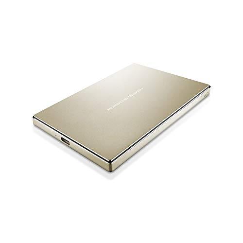 LaCie Porsche Design 2TB USB-C Mobile Hard Drive, Gold + 2mo Adobe CC Photography (STFD2000403)
