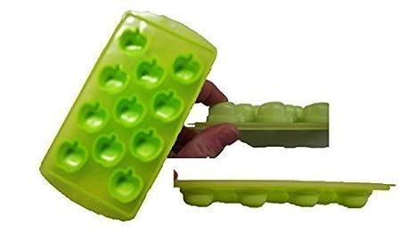 Moldes para cubitos de hielo de silicona manzanas de frutas: Amazon.es: Hogar