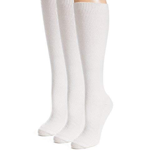 Men Classic Nylon Dress Socks - Best Men's Socks - Black Men's Socks - White knee socks - by Topfit, 3 & 6 Pack