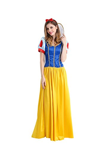 Sinastar Halloween Princess Cosplay Adult Costumes Masquerate Ball Party Stage-wear Yellow Dress (Princess Jasmine Costume Adults Plus Size)