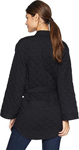 Hurley AJ3611 Women's Hollowknit Wrap Fleece Top, Black - X-Large by Hurley (Image #2)
