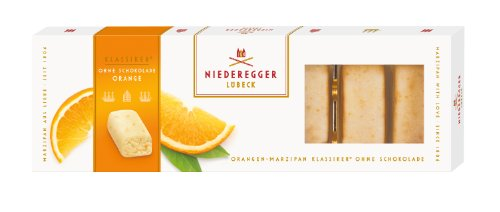 Niederegger Orangen Marzipan Klassiker® ohne Schokolade, 5er Pack (5 x 100 g)