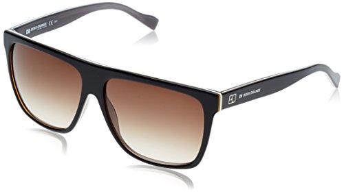 Boss Orange Unisex BO 0082 Black - Brown shaded Organic Sunglasses lenses 58 - Boss Sunglasses Orange