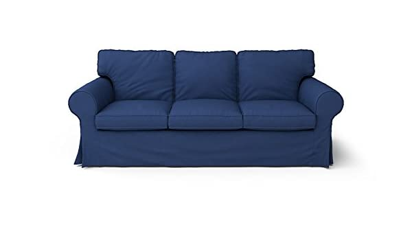 Amazon.com: CUSTOM MADE SLIPCOVERS for Ektorp 3 Seater Navy Blue ...