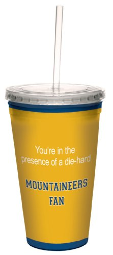 Tree-Free Greetings cc34951 Mountaineers College Basketball Artful Traveler Double-Walled Cool Cup with Reusable Straw, 16-Ounce
