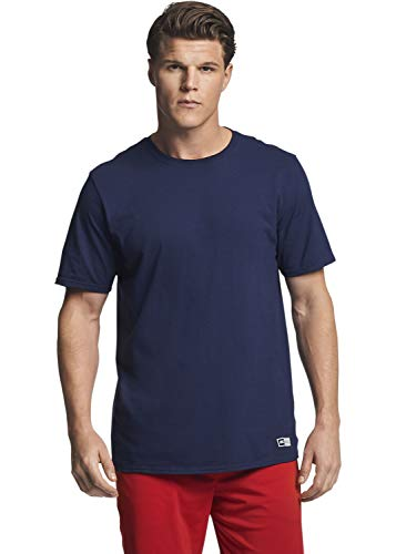Navy Short Sleeve Tee - Russell Athletic Men's Essential Short Sleeve Tee, Navy, L