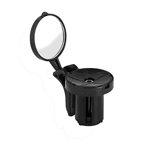AutumnFall Handlebar End Mirror Rearview Mirror for Bike Bicycle Cycling Rear View Road Handle Grip Mirror (Black)