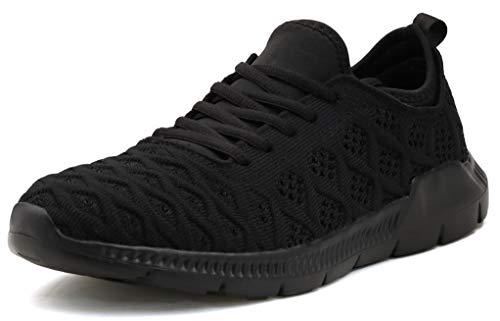 JOOMRA Women Gym Shoes Lightweight Black Comfortable Casual Lady Workout Gym Walking Sport Fashion Tennis Sneakers Size 9
