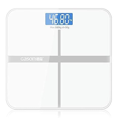 Báscula precisa para el baño Escala del cuerpo Inteligente Electrónica Electrónica Equilibrio de la salud en el hogar Pantalla LCD de cristal templado 180 ...