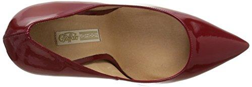 Buffalo London 11476M-272 SOFIA - Botas de cuero para mujer Rojo (CEREZA 01)