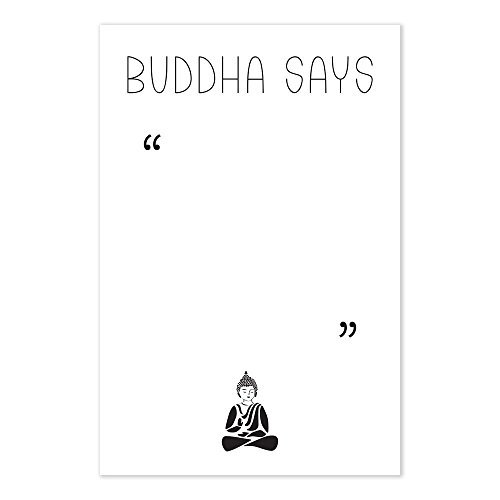 Funny Buddha Says Blank Meditation Quote Poster