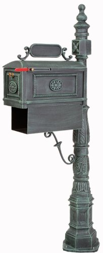 Victorian Barcelona Decorative Cast Aluminum Better Box Mailbox with Paper Box Verde by Better Box Mailboxes