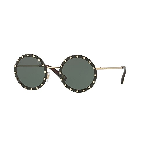 Valentino VA2010B 300371 Light Gold VA2010B Round Sunglasses Lens Category 3 - Sunglasses Valentino Mens
