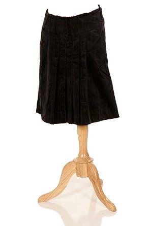 eb486b55332b8 Lilo Maternity Corduroy Pleated Skirt, Short - Black -: Amazon.co.uk:  Clothing