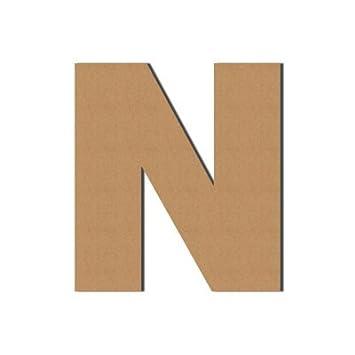 (N) Pappbuchstaben XXL Dekoration, Wellpappe, Buchstaben aus Pappe, Deko,  Geschenk, 50 x 45 cm, DRUCKUNDSO
