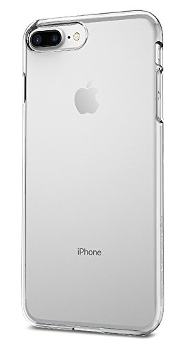 Spigen Thin Fit iPhone 8 Plus/iPhone 7 Plus Case with Premium Clear Hard PC and Slim Fit for Apple iPhone 8 Plus (2017) / iPhone 7 Plus (2016) - Crystal Clear