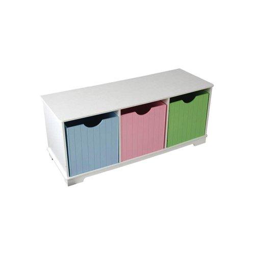 Nantucket Storage Bench Pastel (Kidkraft Wood Toy Caddy)