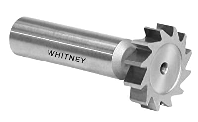 "Whitney Tool 106050 Keyseat Milling Cutter, Style 100, #605 (61), 5/8"" Cutting Diameter, 3/16"" Cutting Width"