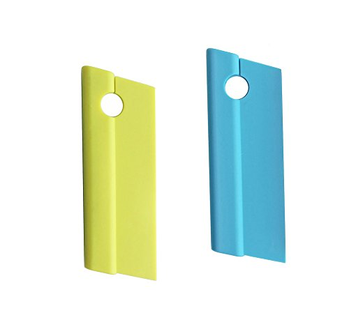 AVIRGO Silicone Blade Squeegees Compact Cleaner for Kitchen Countertops Bathroom Shower Mirrors and Car Windows Set of 2 Pcs Green and ()