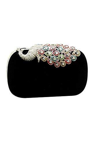 - VT BigHome Women's Elegant Evening Bag Ladies' Handbag Clutch Bag Pea Black for Wedding and Evening Dresses