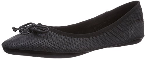 Black Bugatti Toe Closed J06601g Black Women's 100 Flats Ballet qrTr4wFWc
